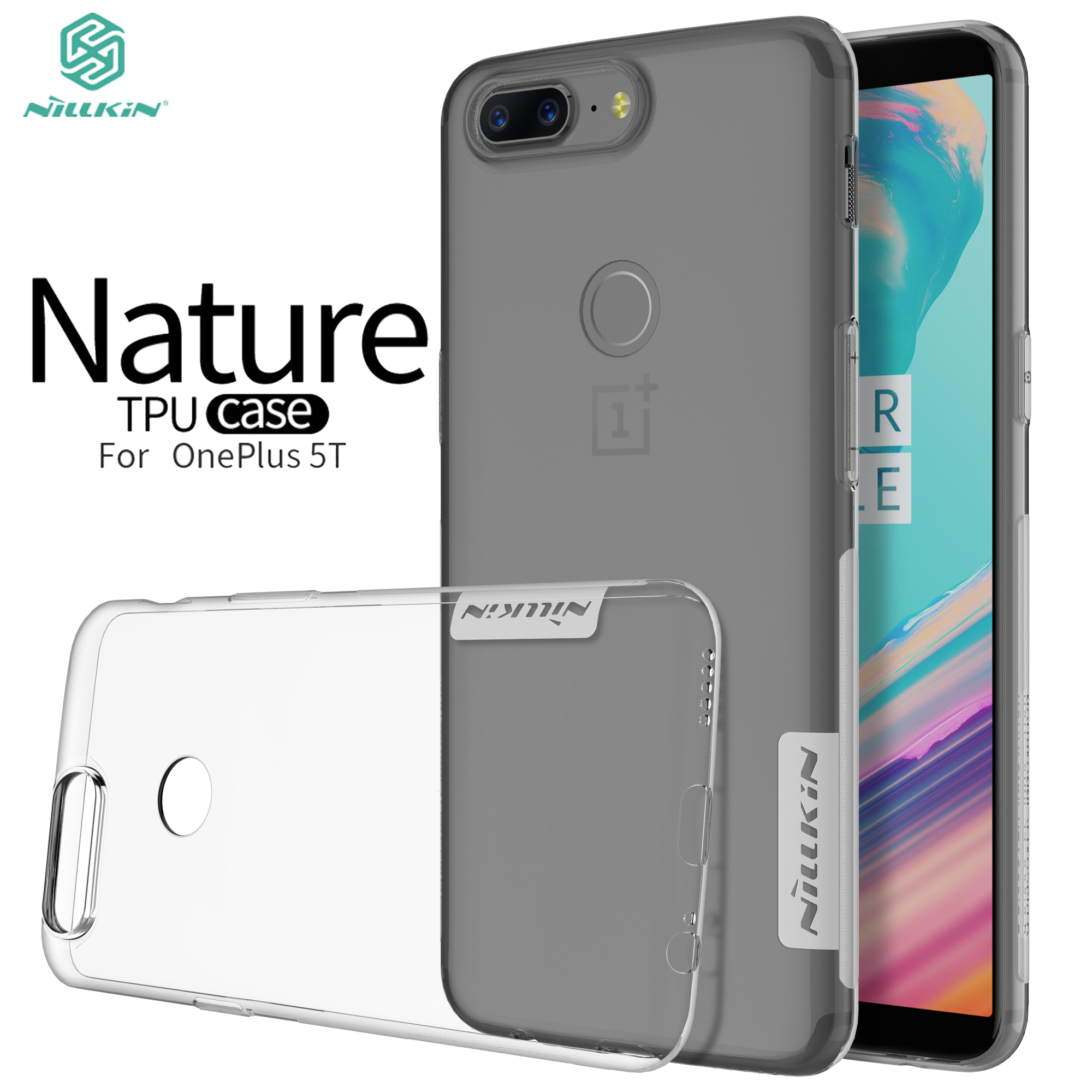 OnePlus 5T Case OnePlus 5T TPU Case Nillkin Nature Series Transparent Clear Soft Silicon Case For OnePlus 5T A5010