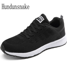 Hundunsnake Knitted Women Sneakers Black Air Mesh Shoes Women 2017 Running Shoes Ladies Shoes Sports Female Krasovki Gumshoe T74