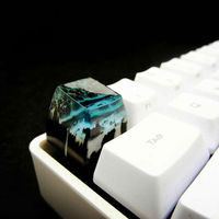 SA Natural Landscape Handmade Keycap Resin + Wood Mini Iceland Artisan Keycaps Key Cap For Cherry MX Mechanical Keyboard