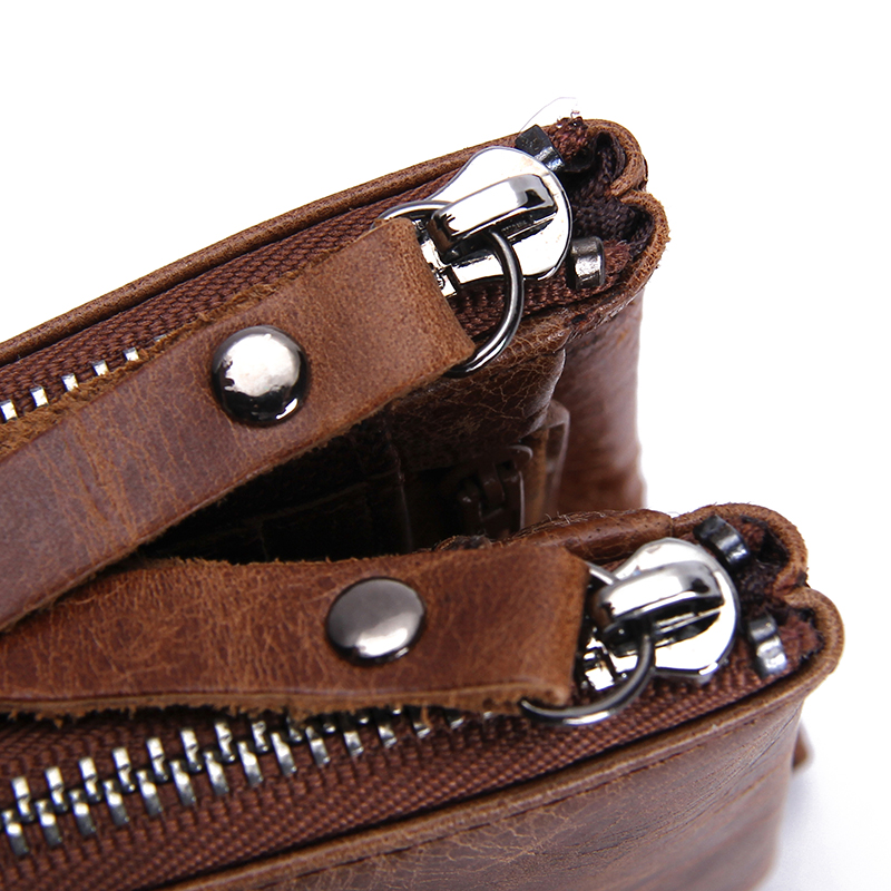 couro do couro homens carteira Material Principal : Couro Genuíno
