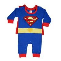 2016 Spring Summer Baby Boys Girls Romper Superman Batman Spider Man Wu Kong Clothing