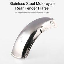 Stainless Steel Motorcycle Rear Fender Flares Mud Flaps Mudguard Splash Guard for Suzuki GN125/GN250