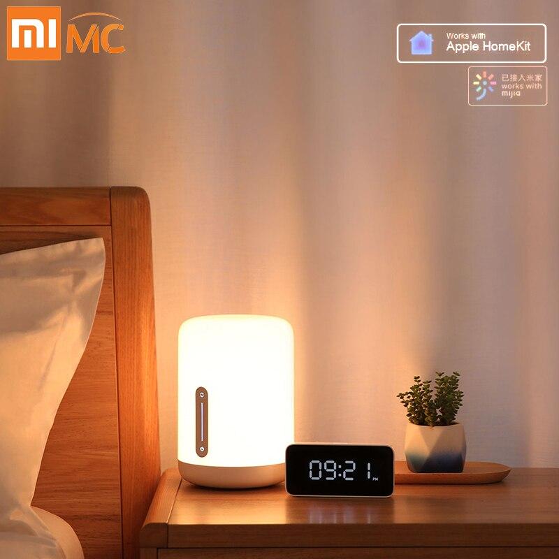 Xiaomi Mijia lampe de chevet 2 Smart Table LED veilleuse colorée 400 Lumens Bluetooth WiFi contrôle tactile pour Apple HomeKit Siri