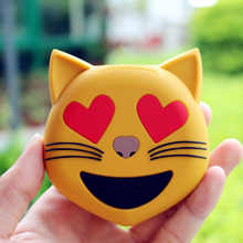 8800 mAh Emoji Power Bank for iphone 8 8plus Funny Cute Unicorn Cat Mobile Phone Battery Light and Slim External Battery Pack