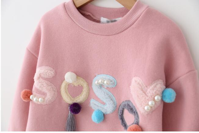 HTB1j0K4amYH8KJjSspdq6ARgVXau - YG31885640 2017 Autumn Baby Girl Top Fashion Solid Print Flower Toddler Girl Clothes Full Sleeve Kids Pullover Girls Clothes