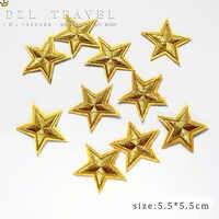 Nuovo arrivo 10 pz Colore Dell'oro little star Ricamato patch di ferro su cartone Motif Applique ricamo DIY accessorio