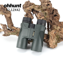 Buy Hiking Camping 12X42 HD Sporting MilitaryTelescope Wide-angle Power Zoom Binoculars Telescope No Infrared Eyepiece Hunting Scope