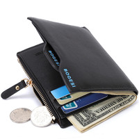 The New Men's Wallet High-grade PU Leather Card Pack Short Wallets Male
