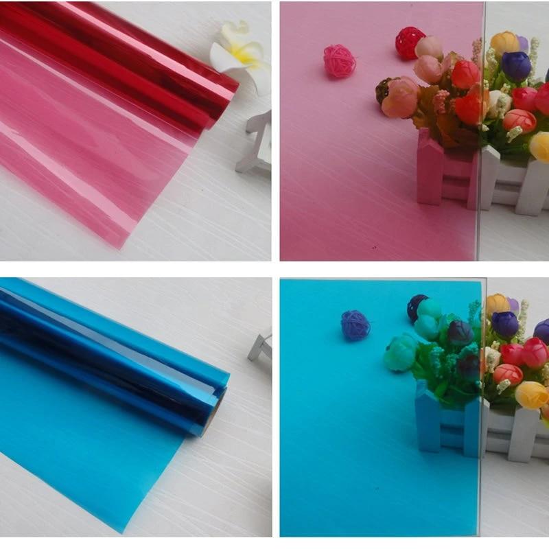 Home tint Colored Decorative Window Film Glass Sticker Solar Tint 152cmx50cm