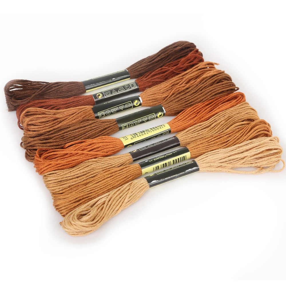 Multicolor 8 sztuk podobne DMC nici ściegiem krzyżykowym bawełna szycia nici do haftowania nici zestaw DIY przyrządy do szycia