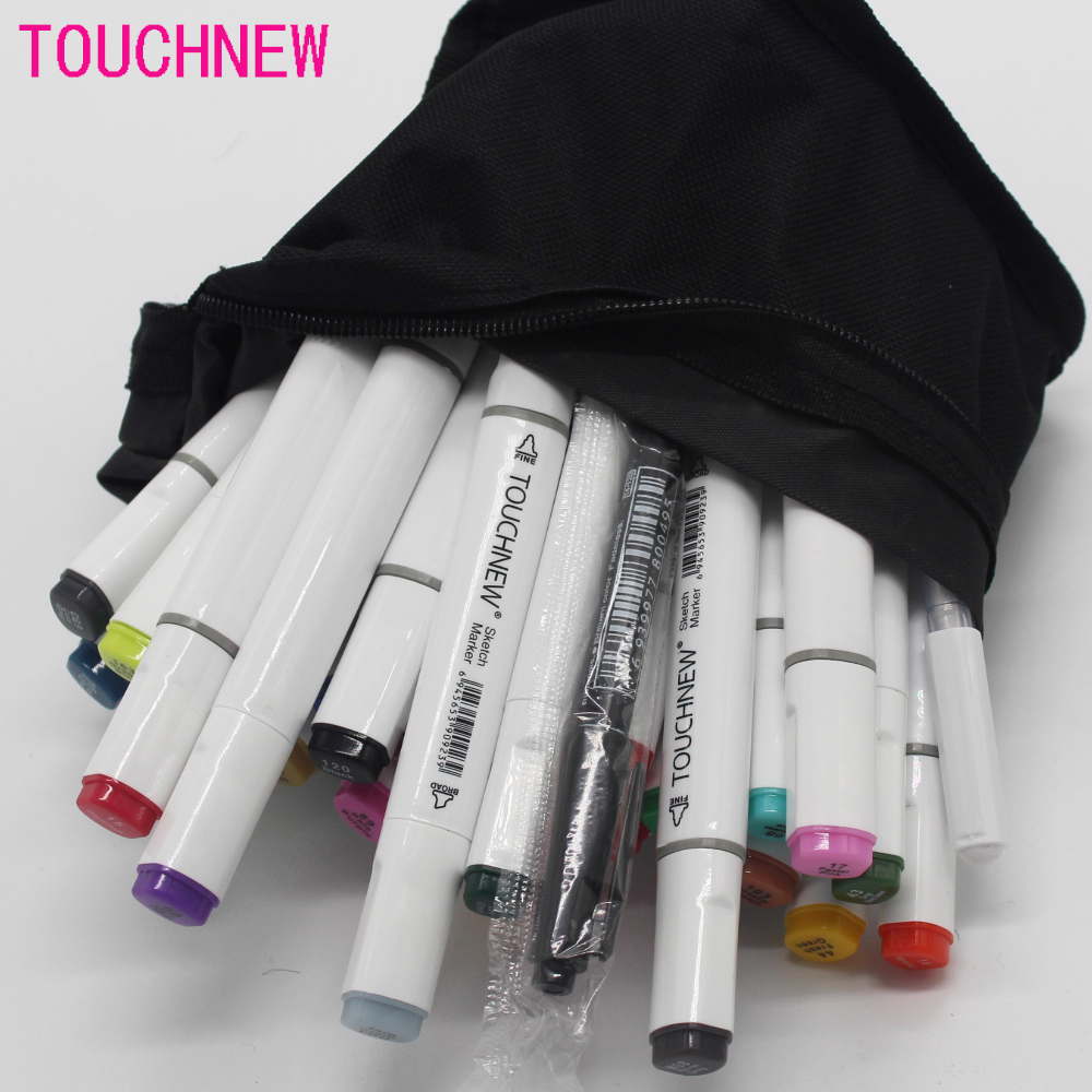 Free shipping six generations fine markers alcohol oily hand painted cartoon design 30 36 40 colors