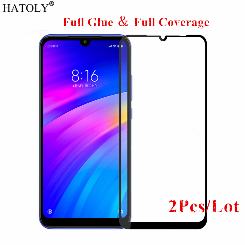 2Pcs For Xiaomi Redmi 8 Glass Tempered Glass For Xiaomi Redmi 7A 6A Film Full Glue 9H Screen Protector Glass For Xiaomi Redmi 7