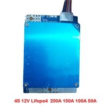 4S 12V Lifepo4 lityum demir fosfat pil koruma levhası 200A 150A 100A 50A yüksek akım 3.2V paketi BMS PCM ile denge