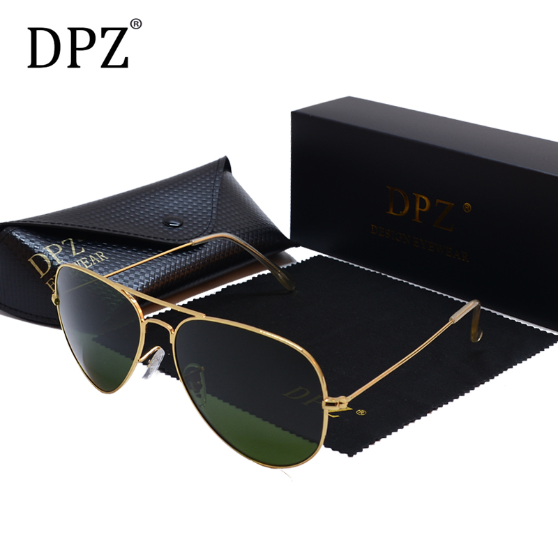DPZ Aviation Sunglasses Case Classic 3026 Rays Polarized Women Men's UV400 With G15 60mm