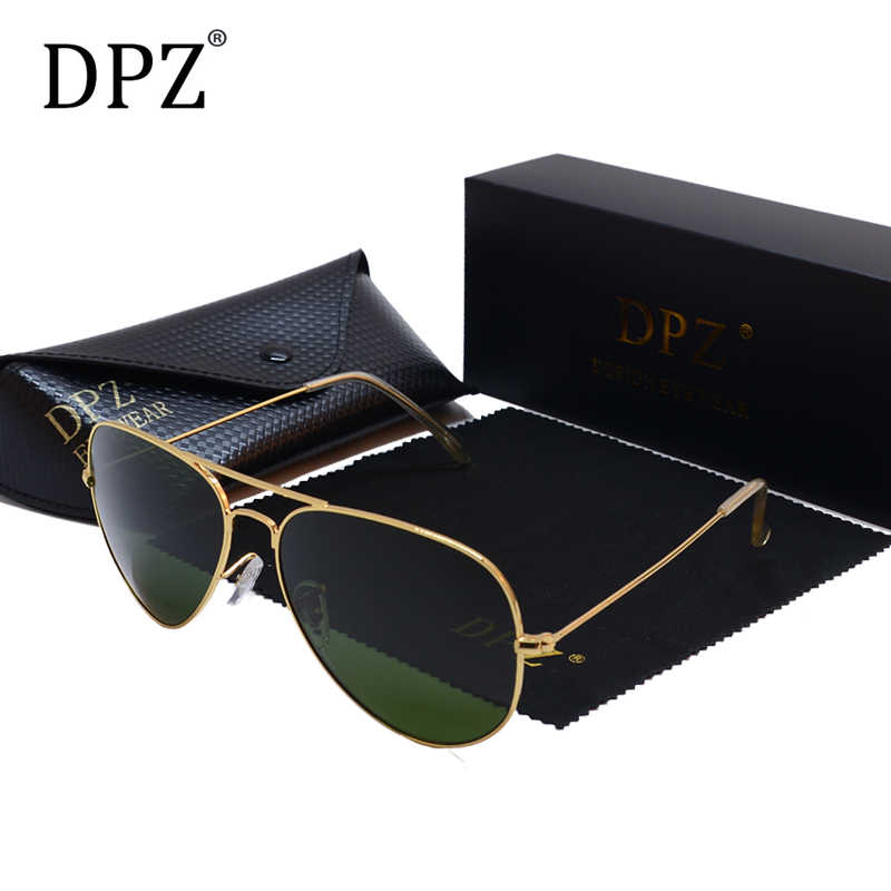 2019 DPZ  Classic Polarized aviation Sunglasses women men's rays 60mm G15  Lens Driving Sun Glasses UV400 Gafas with case 3026