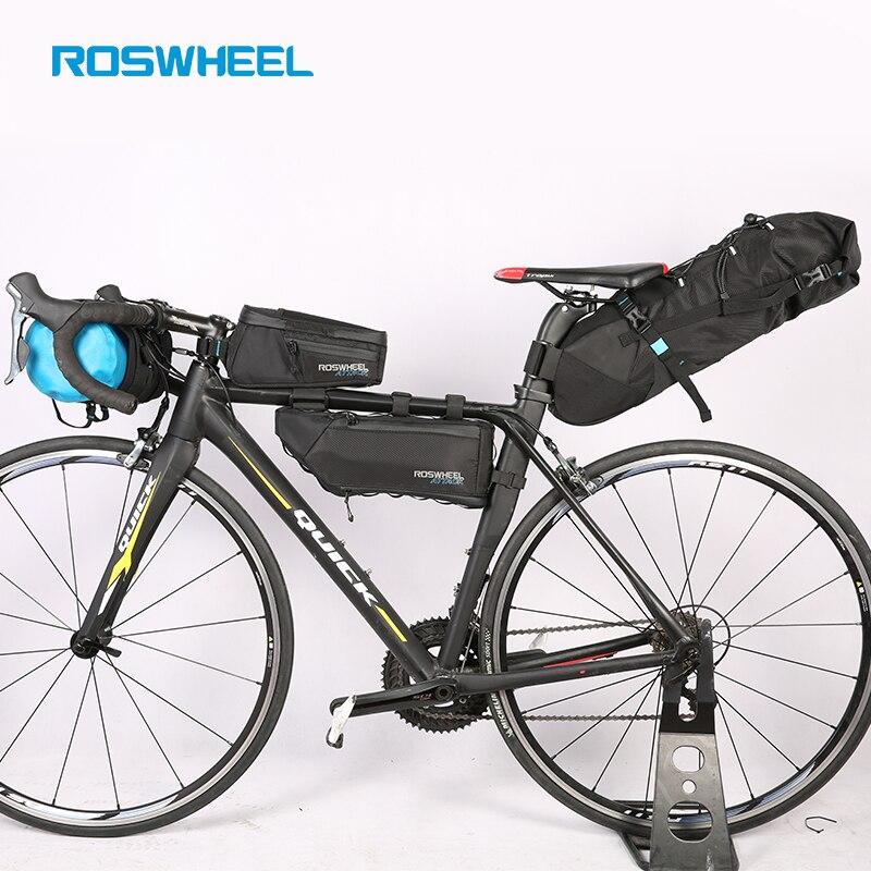ROSWHEEL Fahrrad taschen Fahrrad kopf vorne rohr tasche Voll wasserdichte nylon Schwanz sattel taschen Fahrrad taschen ANGRIFF SERIE