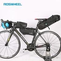 ROSWHEEL Bicycle bags Bike head front tube bag Full waterproof nylon Tail saddle bags Bicycle panniers ATTACK SERIES