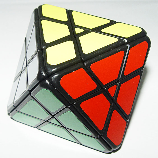 Lanlan 4x4 Octahedron Magic Cube Puzzles Black And White And Stickerless Learning&Educational Cubo magico Toys