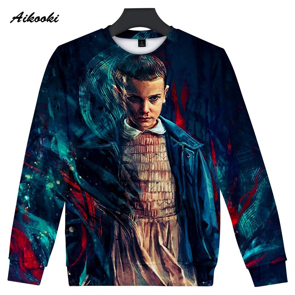 Aikooki 3D Stranger Things Hip Hop Casual Sweatshirt Men Hoodie Stranger Things Spring Winter Mens Hoodies Sweatshirts Jumpers