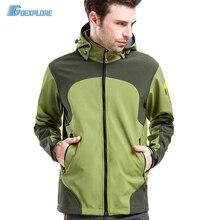 Dropshipping men thermal fleece jacket waterproof hiking jacket mountaineering jacket windstopper softshell camping jackets