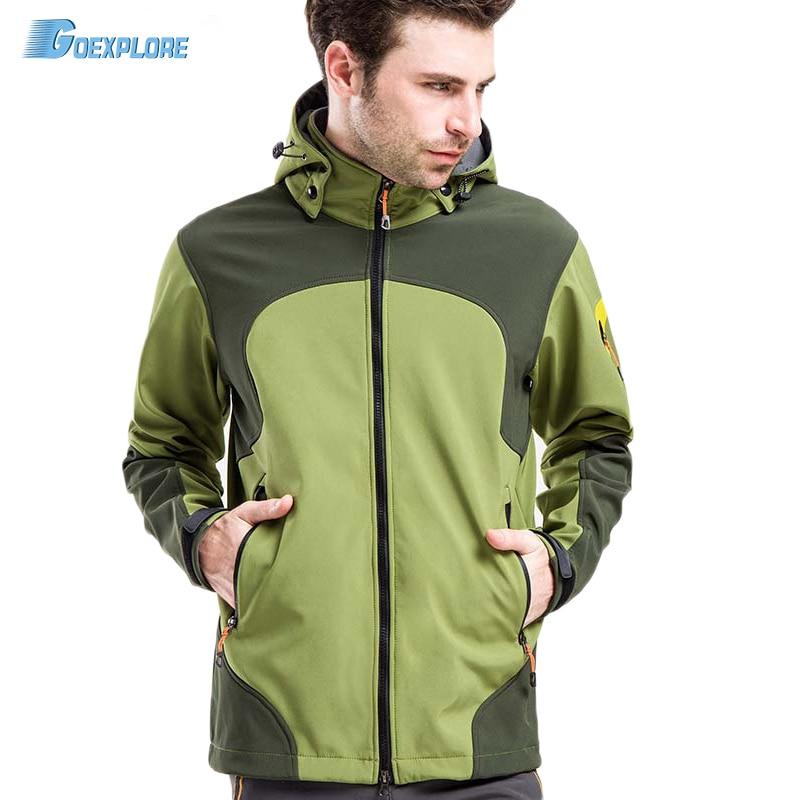 Livraison directe hommes veste polaire thermique imperméable veste de randonnée veste d'alpinisme coupe-vent softshell camping vestes