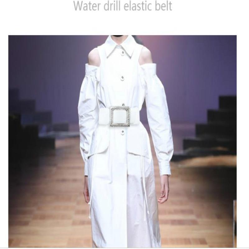 Simple Versatile Waist Belt Crystal Elastic Obi Lady Accessories Dress With Decorative Stretch Stone Waist Strap Waist Sealing