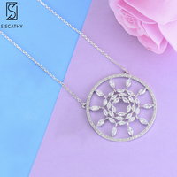 SISCATHY Fashion statement necklace Geometric Hollow Shape Pendant Necklace For Women Girls Fashion Jewelry