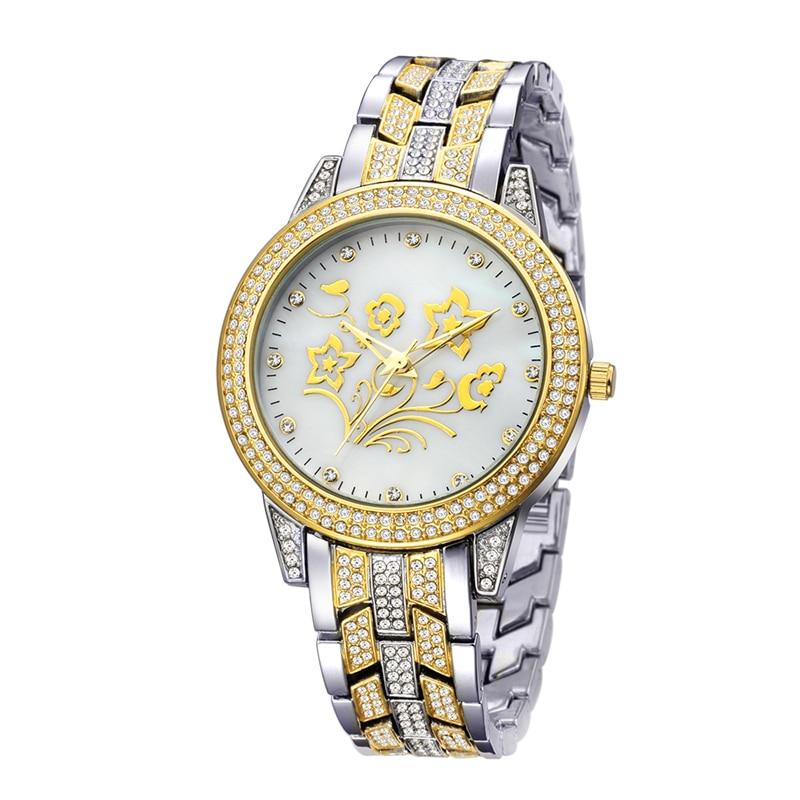 BELBI Jewelry Ladies Wrist Watches Top Luxury Elegant Diamond Women Wristwatches Waterproof Quartz Battery Clock Female