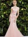 Потрясающие роскошные длинные вечернее платье элегантный платье ну вечеринку Vestido де феста лонго одеяние де вечер на заказ 44YSBF105