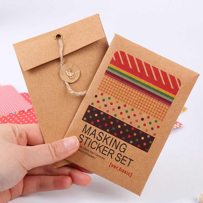 Pegatinas artesanales de cinta adhesiva para álbumes de recortes, paquete decorativo de 27 Uds.
