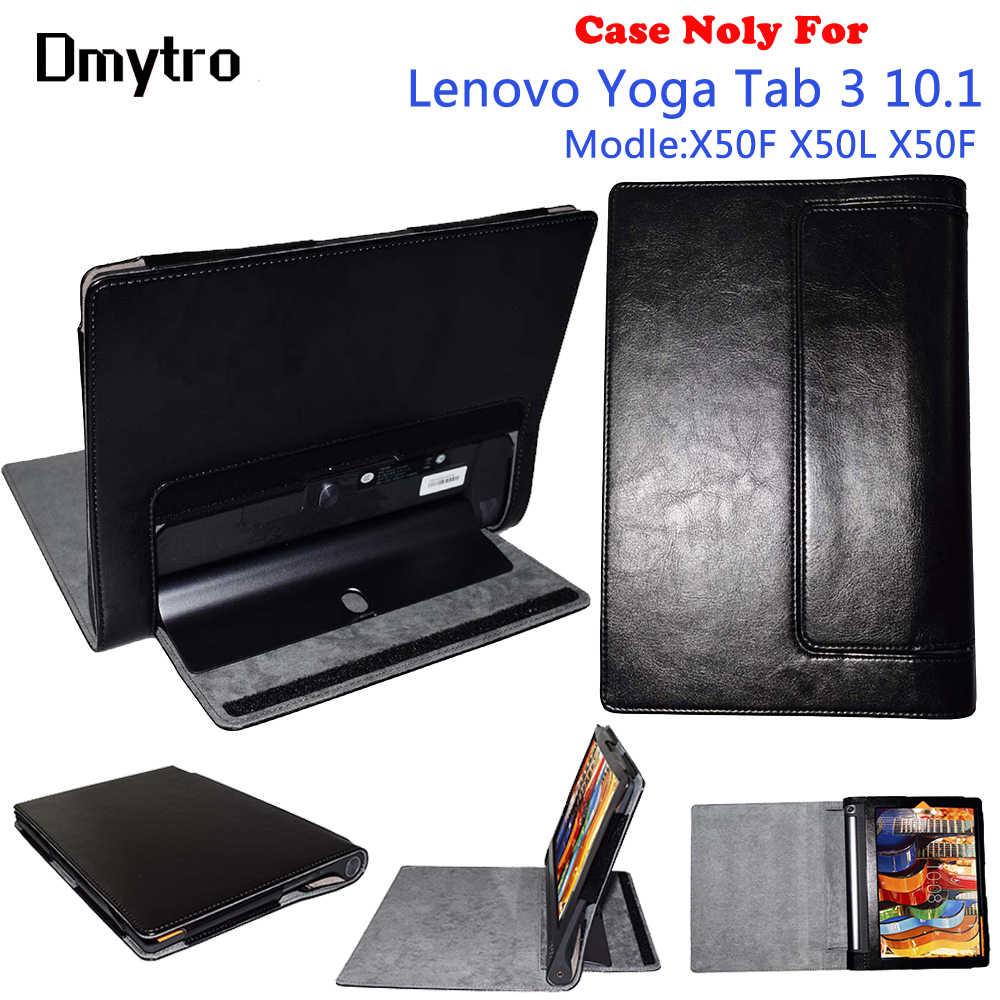 Dmytro حافظة لهاتف Lenovo Yoga Tab 3 10.1 YT3-X50F X50M X50L حافظة جلدية ذكية قابلة للطي PU جراب واقٍ مع النوم/الاستيقاظ