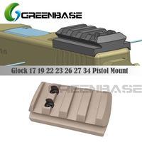 GREENBASE Glock placa de montaje Glock 17 19 22 23 26 27 34 riel instalación para pistola Red Dot Sight con 20mm riel Picatinny