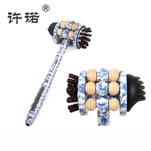 Quality Handhold Roller Massage Hammer Wooden Health Meridian Beat Multi function Self help Massager for Home and bar