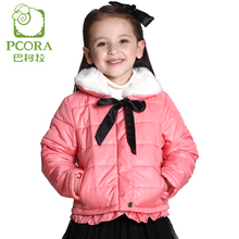 PCORA Kids Girls Autumn/Winter Cotton Padded Coat Thick Jackets Zipper Closure Pink/Sky Blue 3T~14T Teens Girls Clothing
