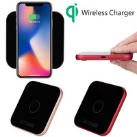 New Portable Mini Qi Safe Wireless Charger Charging Pad For Iphone8 8 Plus X 180116 Free