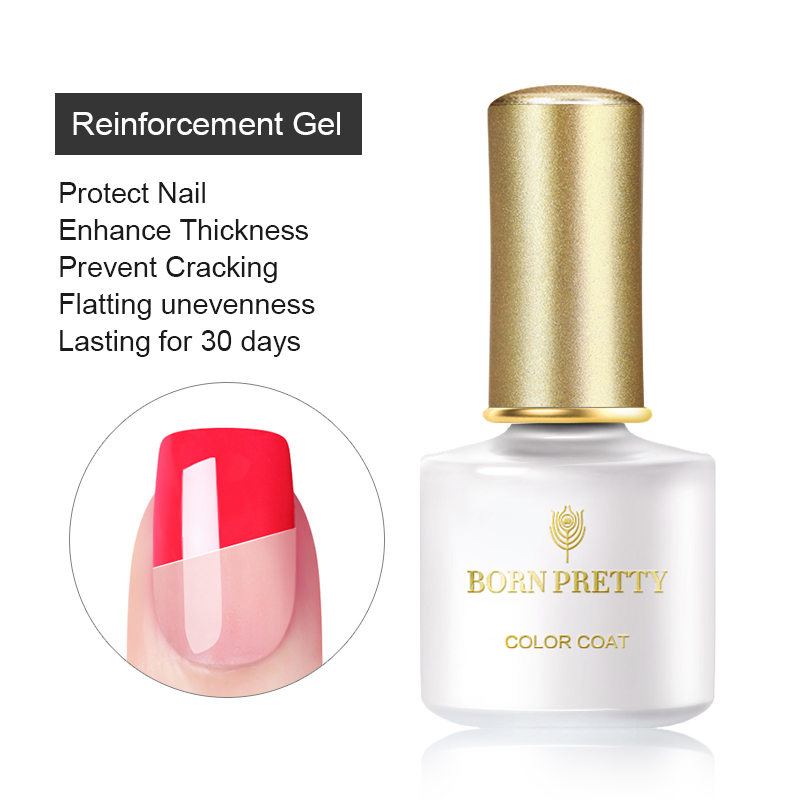 Усиленный УФ-гель BORN PRETTY, Гель-лак для защиты ногтей, 6 мл, Гель-лак для дизайна ногтей, удаляемый замачиванием, Гель-лак для УФ-лампы