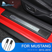 Airspeed for Ford Mustang Accessories 2015 2016 2017 2018 Mustang GT Carbon for Ford Mustang Sticker Door Sills Protector Guards