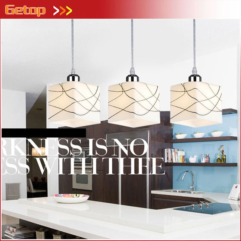 ZX Free Shipping Modern Contracted LED Glass Chandelier Hotel E27 Lighting Indoor Restaurant Pendant Lamp AC 90-260V modern 3l 5l 6l 8l 10l brass pendant lamp antique brass chandelier vintage total copper glass ac 100% guaranteed free shipping