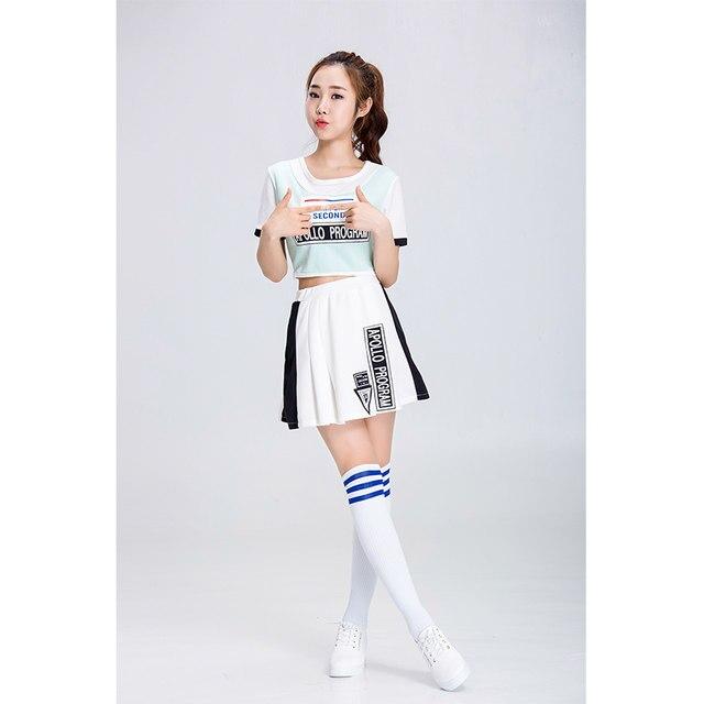 titivate sexy high school girls cheerleading costume short sleeves cheerleader uniform lady halloween costume topskirt s 2xl