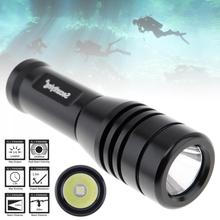 цена на SecurityIng LED Torch 570Lm XM-L2(U4) LED IP68 Underwater 150M Scuba Diving Photography Video Flashlight for Diving Camping