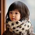 Rings Scarf for Children Star Dobby Tube Scarves Baby Warm Winter