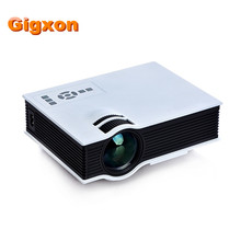 Gigxon-g40 de la venta caliente 800*480 1080 p 800 lúmenes soporte entertainmet uc40 proyector portátil proyector lcd beamer