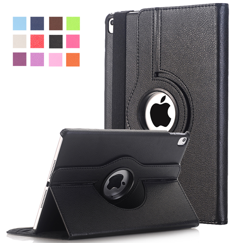 Cover For Apple iPad Pro 9.7 inch Case PU Leather Flip Smart Stand 360 Rotating Brand Case Cover w/Screen Protector Film+Stylus for apple ipad pro 12 9 inch pu leather stand cover flip back case luxury business style smart tablet cover for ipad pro