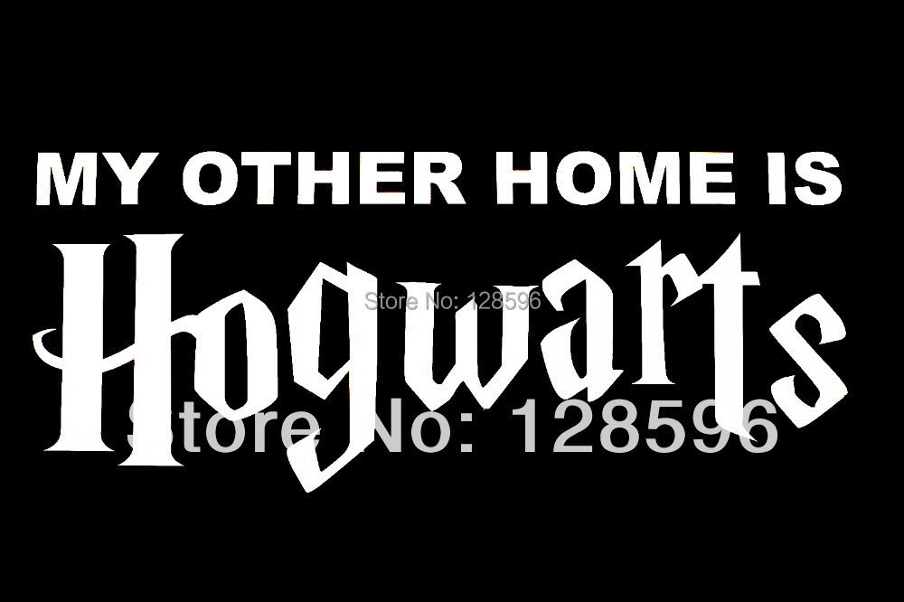 my other home is hogwarts decal sticker car vinyl harry potter in car stickers from automobiles. Black Bedroom Furniture Sets. Home Design Ideas