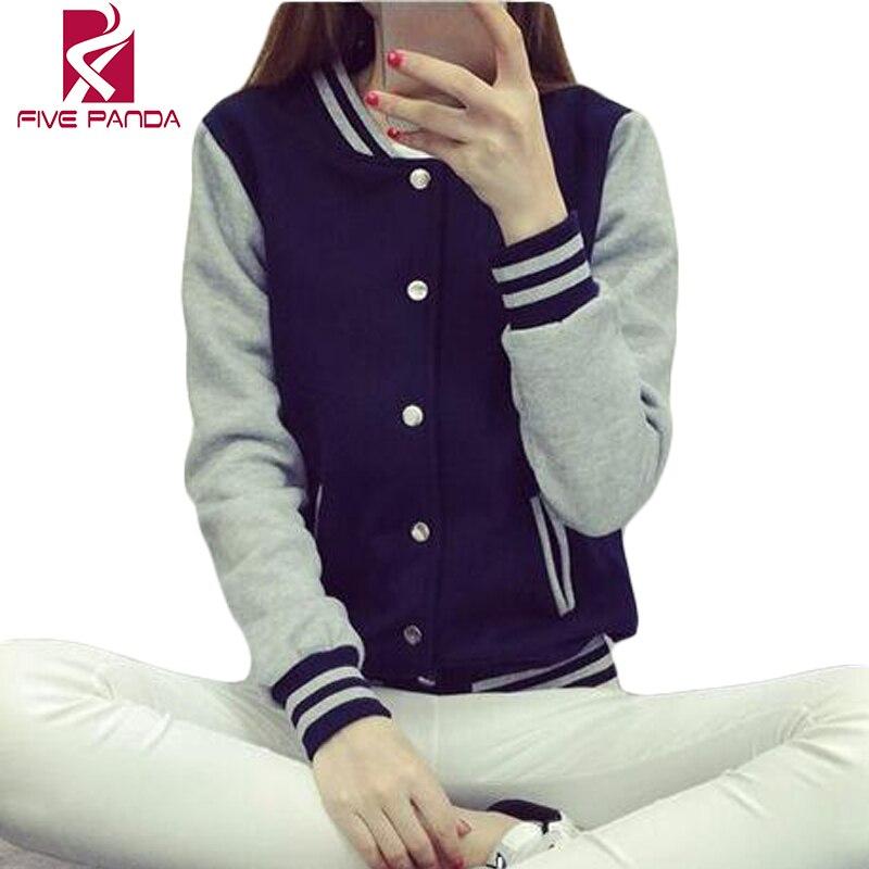 Autumn Baseball Jacket Women Bomber Jackets For Women Plus Size Patchwork Coat JSK083