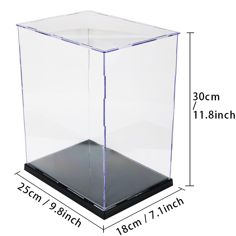 Acrylic Transparent Display Case Toy Figures Model Diy