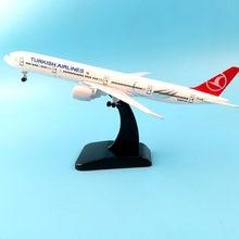Aliexpress 11.11 venda quente 20cm turkish airlines boeing 777 modelo de avião modelo de avião 16cm avião modelo de brinquedo avião presente
