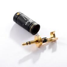 HiFi MPS Stegodon 3 pole 3,5mm Audio 24K Gold Überzogene AUX stecker 3,5 Anschlüsse jack stecker jack stereo Headset für 8mm