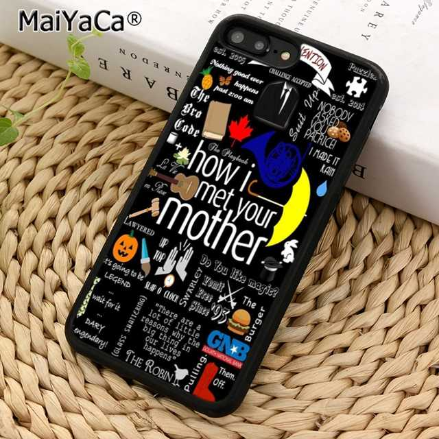 MaiYaCa How I Met ваша мама коллаж чехол Чехол для iPhone 5 5S 6 6s 7 8 X XR XS max samsung galaxy S6 S7 edge S8 S9 Plus