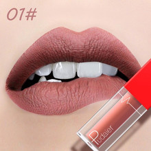 Pudaier Liquid Lip Gloss Long Lasting Non-Stick Cup Lipgloss Nude Matte Velvet No Fade Lip Stick Mouth Red Lipstick Lips Make Up 7 color makeup matte liquid lipstick waterproof flash lip color non stick cup does not fade matte lip gloss fenty beauty make up